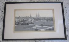Antique 1880s Woven Silk Stevengraph Skyline City COVENTRY England Clean w Frame