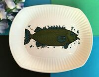 "Retro Vintage 1960's Washington Pottery ""Aquarius Series"" Large Fish Plate"
