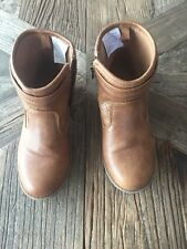 Old Navy Size 13 Camel Ankle Boots With Side Zip Closure