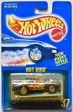 HOT WHEELS 1989 BLUE CARD HOT BIRD #37 W/ PAMPHLET UH CHROME WHEELS 05 W+