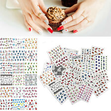 50 Sheets/Set Nail Art Stickers Mixed Flowers Water Transfer Decals Manicure DIY