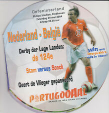 Programme / Programma Holland v Belgium 29-05-2004 friendly