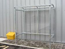 Smoking Shelter UK Ban Vaping Area Ashtray Pub Office Galvanised Steel 4 Person