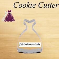 Princesa Vestido de boda en forma de cookie Molde Cortador, Fondant Sugarcraft Molde