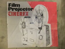 Instructions cine projector  CINEREX Auto super 8 & 8mm  - CD/Email