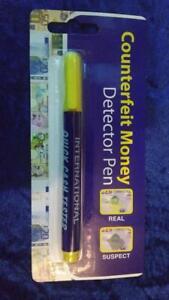International QUICK CASH Counterfeit Money Detector Pen by R J GRAY