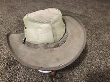 Australian Leather Hat Bushbreeze Outback Wallabies SZ Extra small