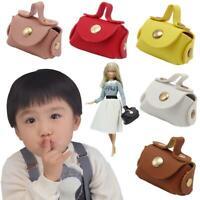 1:12 Dollhouse Miniature PU Sac à main en cuir Accessoire de maison de poupée