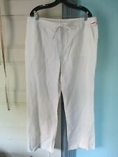 "WINTERSILKS Size 14 White SILK Pants NEW w/Tag Inseam 30.5"""