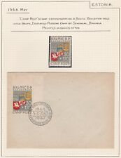 Post World War II. Displaced Person. Baltic Camp Post. Stamp and Cover.