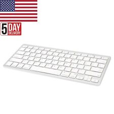 Ultra Slim Mini Wireless Bluetooth Keyboard White For PC Windows Android IOS