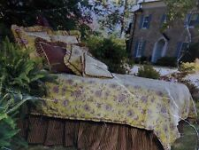 NEW MAISON LUXE JEANETTE GREEN BROWN 4 PIECE CALIFORNIA KING COMFORTER SET
