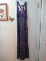 Mossimo  Multi-color Pattern Stretchy Knit Sleeveless Maxi Dress  Size XS - Slit