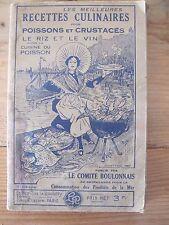 Recettes Culinaires  Poissons et Crustacés - Editions Blondel La Rougery - 1935