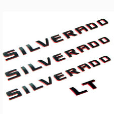 3x GENUINE SILVERADO +1 LT Nameplate Emblem Badge 3D 1500 2500HD OEM Redline Y
