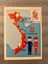 Vietnam Postcard With Gandhi Stamp 150th Anniversary Gandhi Birth Personalized