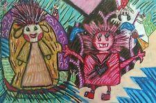 The Visitor Little Monsters Outsider Pop Art Signed Giclee Print 8 x 10 KSAMS
