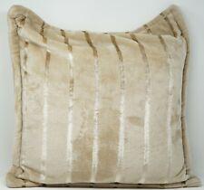 "Charter Club Cozy Plush 20"" Striped Zippered Decorative Throw Pillow - Beige"