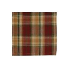 Country Sleigh Ride Napkin Red Green Gold Plaid Cotton Farmhouse Christmas