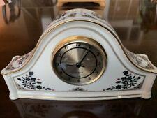 Vintage Lenox 1986 Madison porcelain quartz clock in excellent condition
