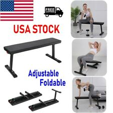 Adjustable Weight Bench Sit Up Bench Lifting Flat Incline Training Exercise Gym