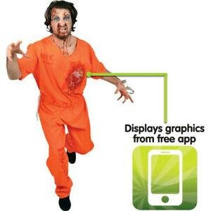 Men's Morph Costume Beating Heart Orange Prisoner Costume Jumpsuit