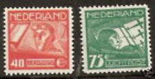 Nederland  luchtpost 4-5 luxe postfris