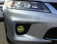 PreCut Vinyl Tint YELLOW Overlays for 2013-15 Accord COUPE Fog light