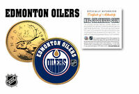 EDMONTON OILERS NHL Hockey 24K Gold Plated Canadian Quarter Coin * LICENSED *