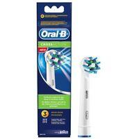 3 Oral B Cross Action Aufsteckbürsten Original OralB Ersatzbürsten Zahnbürste