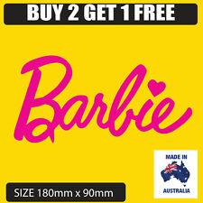 Barbie sticker car decal 180mm wide