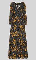 Whistles Kira Spot Floral Maxi Silk Dress - U.K. 8 - Brand New With Tags