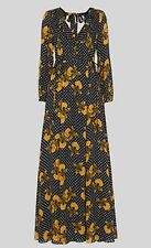 Whistles Kira Spot Floral Maxi Silk Dress - U.K. 6 - Brand New With Tags