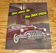 Original 1950 Buick Special Foldout Sales Brochure 50 Coupe Sedan Sedanet