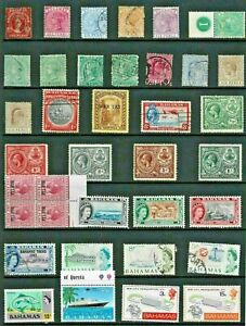 BAHAMAS Stamp COLLECTION Victoria to QEII MINT USED Ref:QV829a