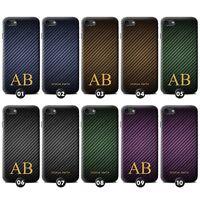 Personalisiert Kohlenstoff-Faser Muster Hülle/Case für Blackberry Initiale