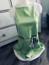 Bonnie Jean Girls Summer Sleeveless Green with Waist Scarf Belt Dress Size 16