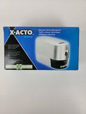 X Acto Model 2000 19240 Electric Pencil Sharpener Silver New Open Box