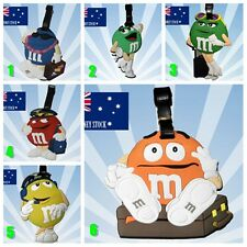 3 x M&M Characters Travel Luggage School Sport Bag Tag Name Address ID Suitcase