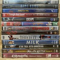 Mixed DVD Lot 13 Movies All NEW SEALED! Clueless Kong Escape Beowulf Hook Milk..