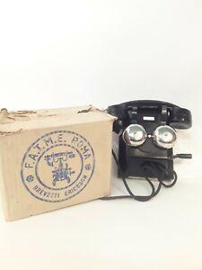 Telefono da muro per uso interno in bachelite F.A.T.M.E. Roma anni 40