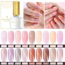 BORN PRETTY Summer Jelly Cat Eye Gel Nail Polish Soak off Gel Varnish Pink Beige
