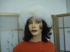 BRAND NEW WHITE FOX FUR HEADBAND HAT WOMEN WOMAN