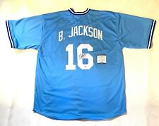 BO JACKSON AUTOGRAPHED SIGNED PRO STYLE JERSEY w/ BECKETT COA #WB14401