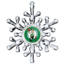 Boston Celtics Snowflake Ornament