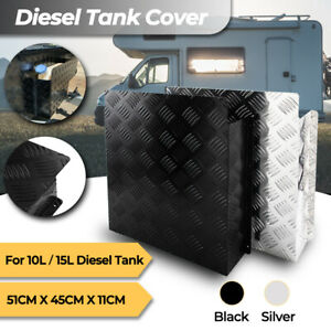 Caravan Diesel Tank Cover for 10L/15L Tank Black/Silver