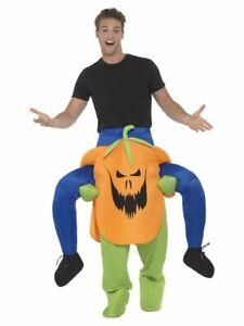 SMIFFY 47166 Huckepack Kostüm Kürbis Grusel Halloween Damen Herren Karneval