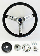 "New! 1966 Dodge Charger Grant Black Steering Wheel 13.5 inch 13 1/2"" classic"
