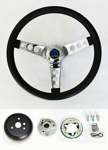"""New! 1966 Dodge Charger Grant Black Steering Wheel 13.5 inch 13 1/2"""" classic"""