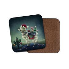 Christmas Llama Coaster - Cute Xmas Animal Festive Merry Kids Funny Gift #16819